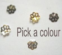 6mm Filigree beadcaps x 100. Pick a colour.